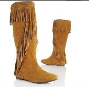 SAM EDELMAN Utah Fringe Leather Boots